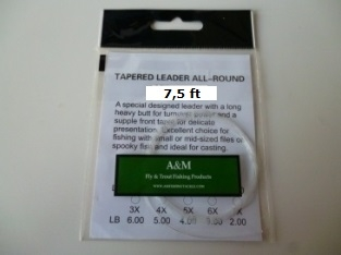 A&M 7,5 ft Tapered leader 3X